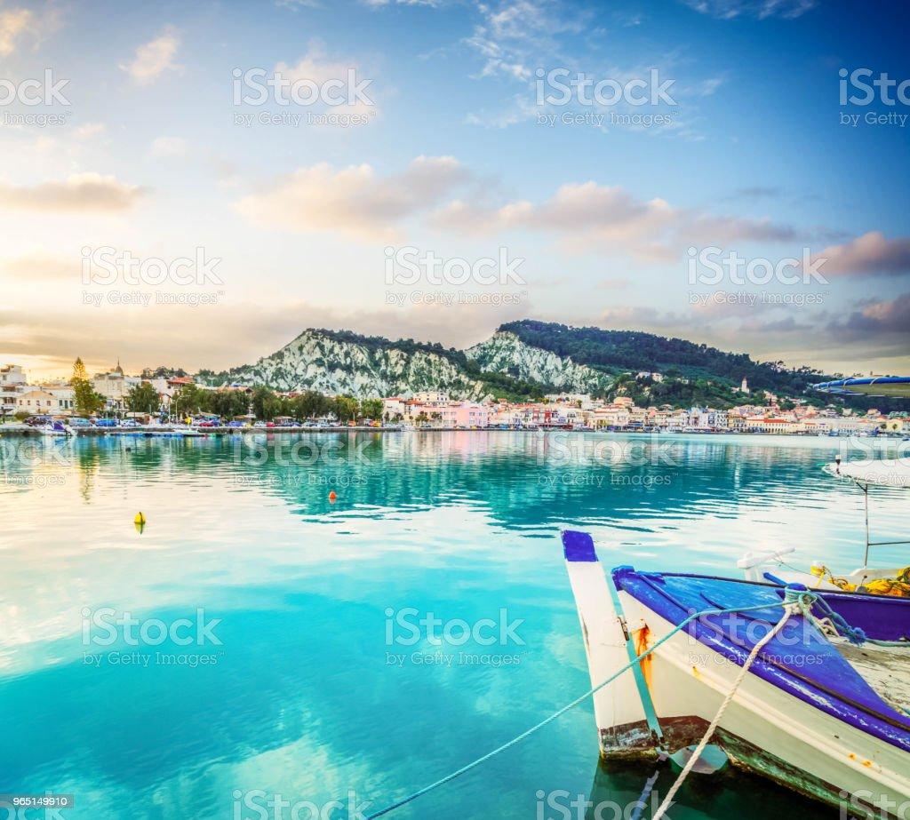 Zaante town, Zakinthos Greece zbiór zdjęć royalty-free
