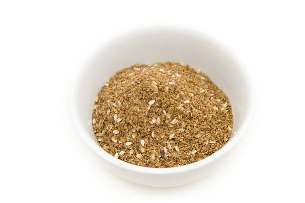 Za'atar spice in a bowl Za'atar spice in a bowl. zaatar spice stock pictures, royalty-free photos & images