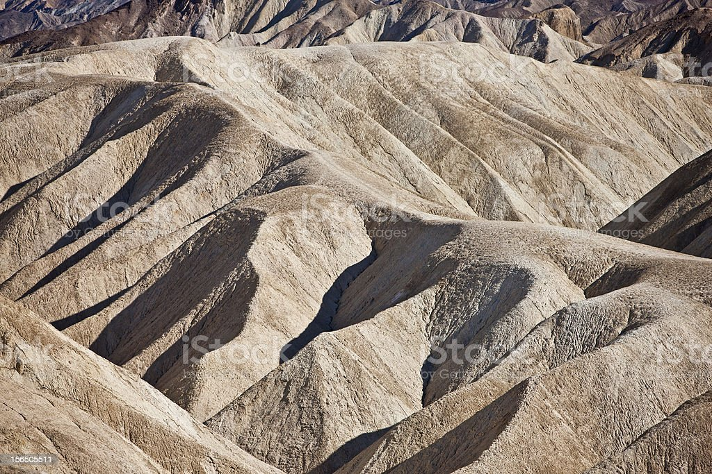Zabriskie Point, Death Valley National Park, California, USA royalty-free stock photo