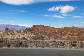 A view of the scenic landscape of the Death Valley