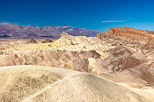 Beautiful desert view of Zabriskie Point in Death Valley National Park, California.