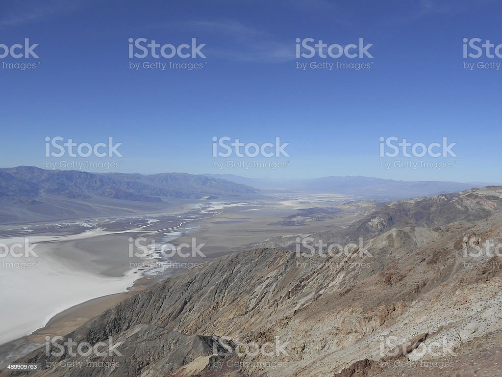 Zabriskie Point in Death Valley stock photo