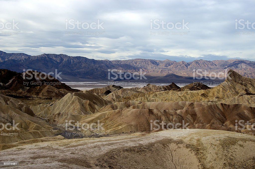 Zabriskie Point in Death Valley royalty-free stock photo