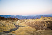 Beautiful landscape of the morning light at Zabriskie Point in Death Valley National Park (California).