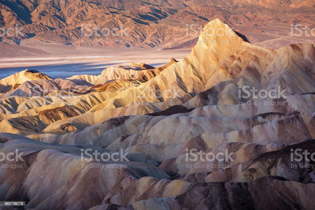 Zabriskie Point Sunrise - Royalty-free Adventure Stock Photo
