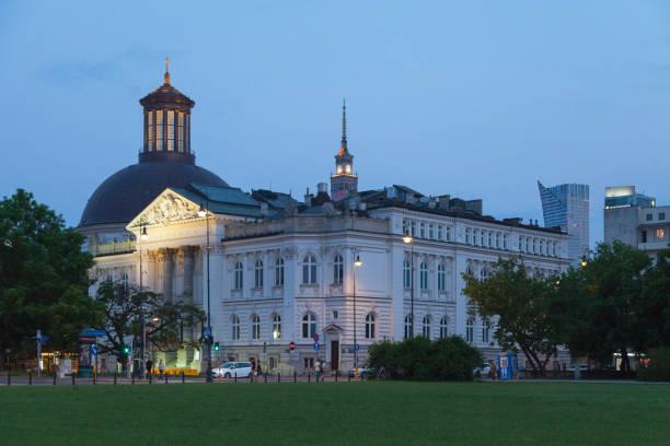 Zachęta National Gallery of Art in Warsaw stock photo