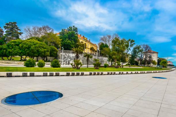 Zadar Küste Promenade Landschaft. – Foto