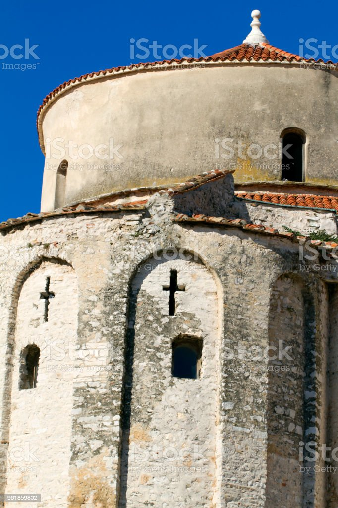 Zadar Old Town - Church of St. Donatus stock photo