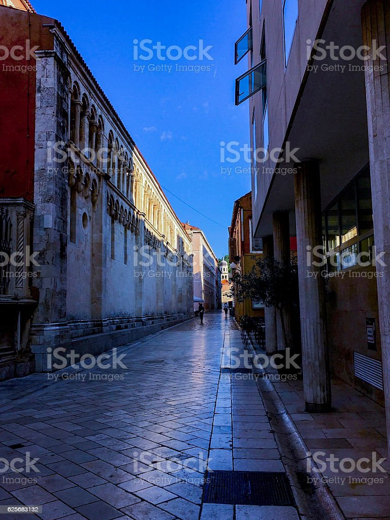 Zadar Old Town in the fine tranquil morning ストックフォト