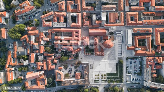 Zadar Old Town, aerial view