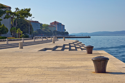 Zadar waterfront famous sea organs landmark