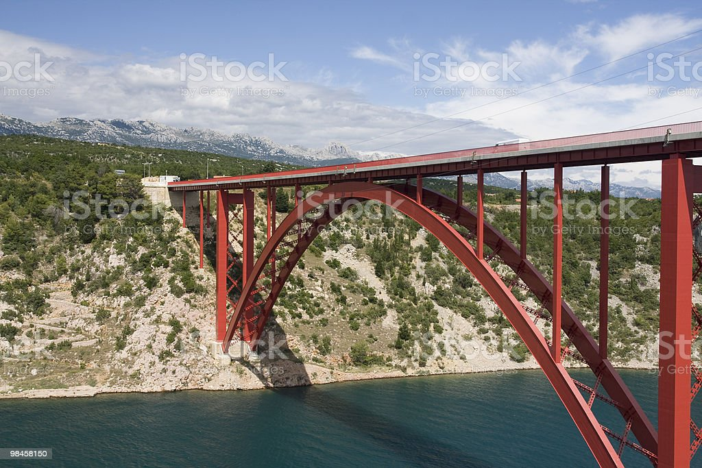Zadar's bridge royalty-free stock photo