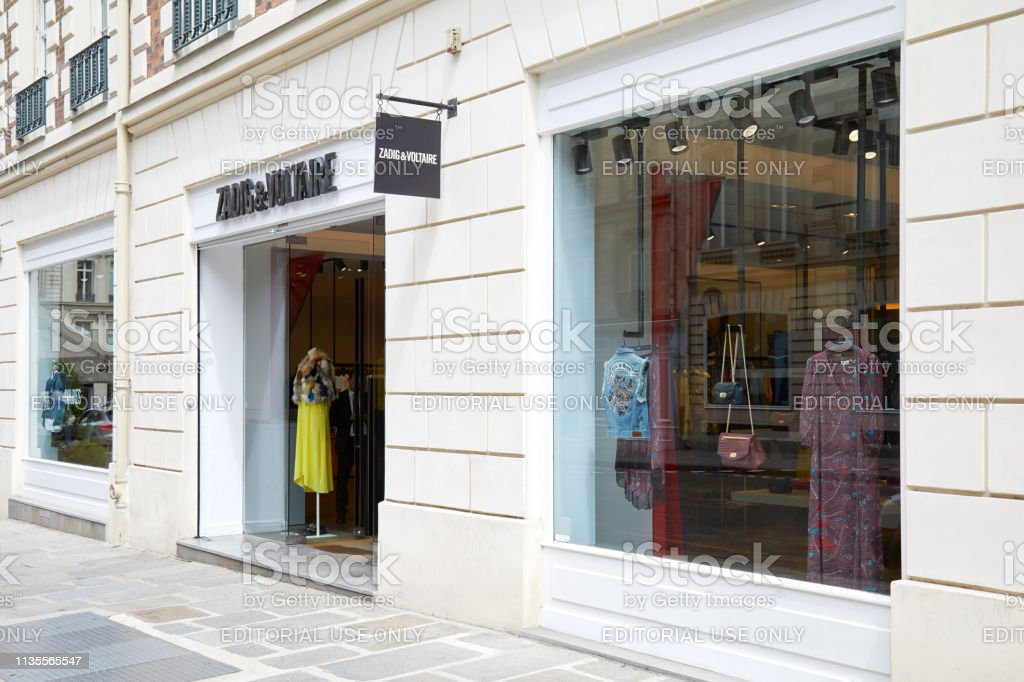 Zadig and Voltaire fashion luxury store in Paris, France.