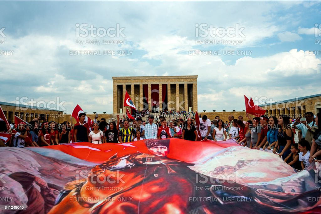 Zafer Bayrami 2017, Anitkabir stock photo