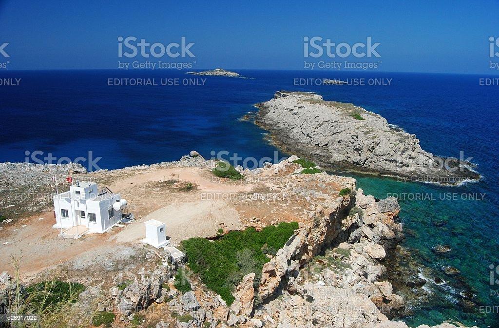 Zafer burnu in Cyprus. stock photo