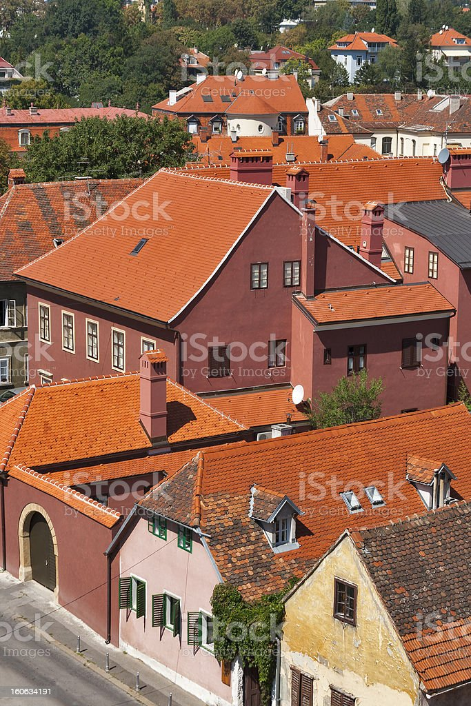 Zagreb architecture royalty-free stock photo