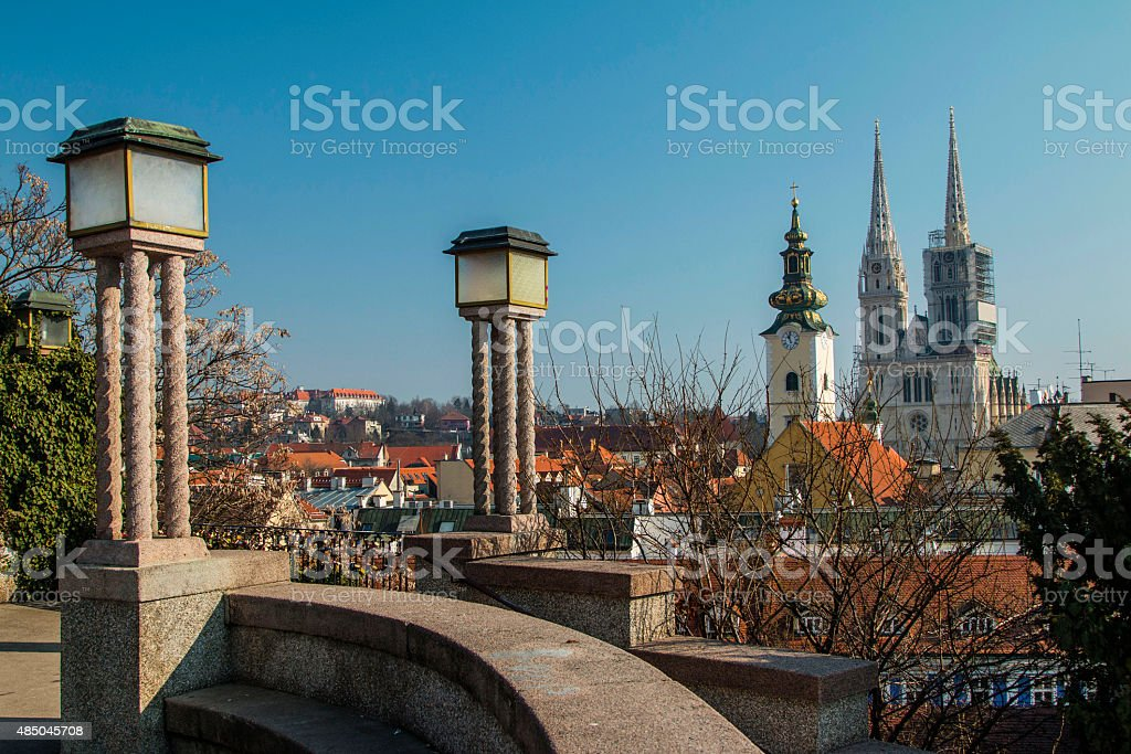 Zagreb cathedral stock photo