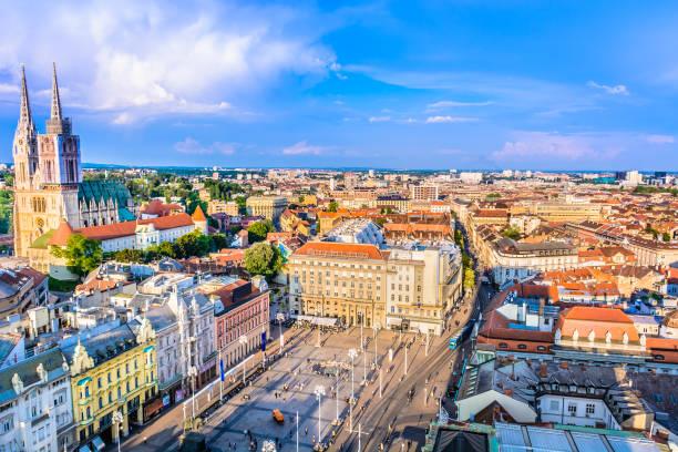 Zagreb city aerial view. – Foto