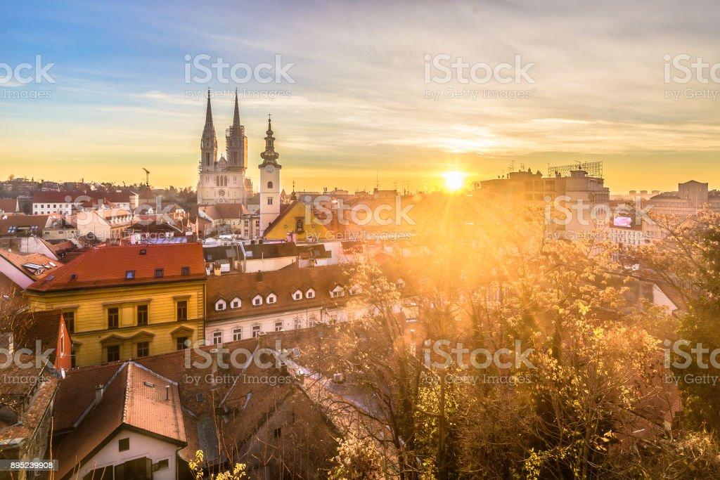 Zagreb Europe travel places. stock photo