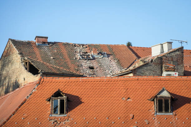 Zagreb hit by the earthquake stock photo
