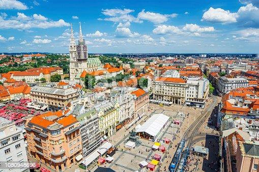 Main Square of Zagreb (Croatia)