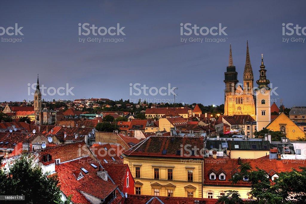 Zagreb royalty-free stock photo