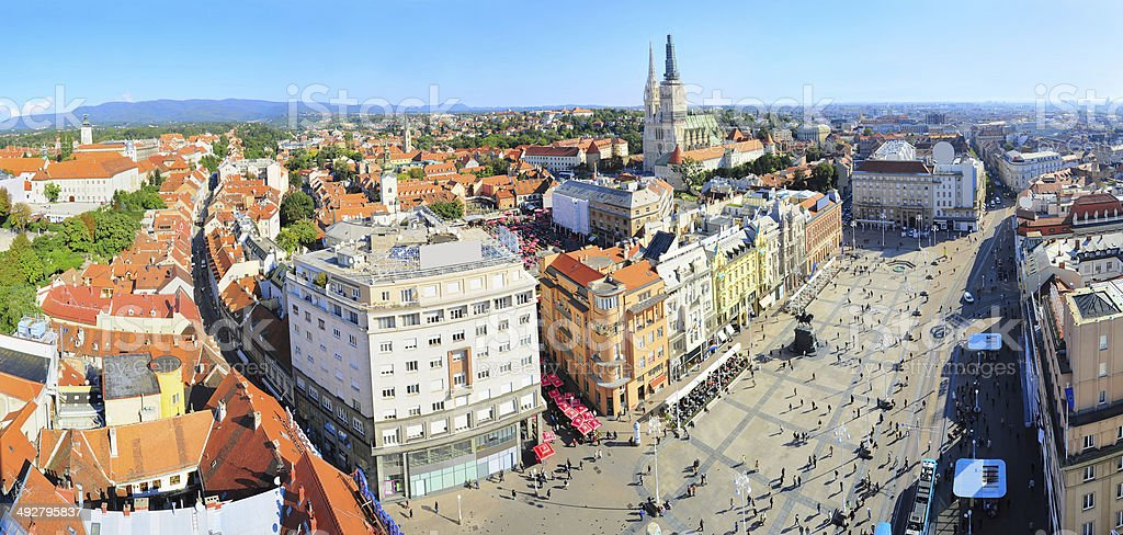 Zagreb skylie stock photo