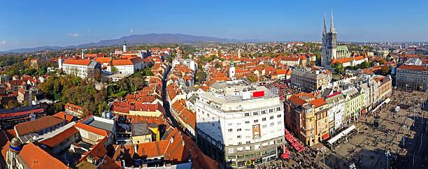 skyline von Zagreb – Foto
