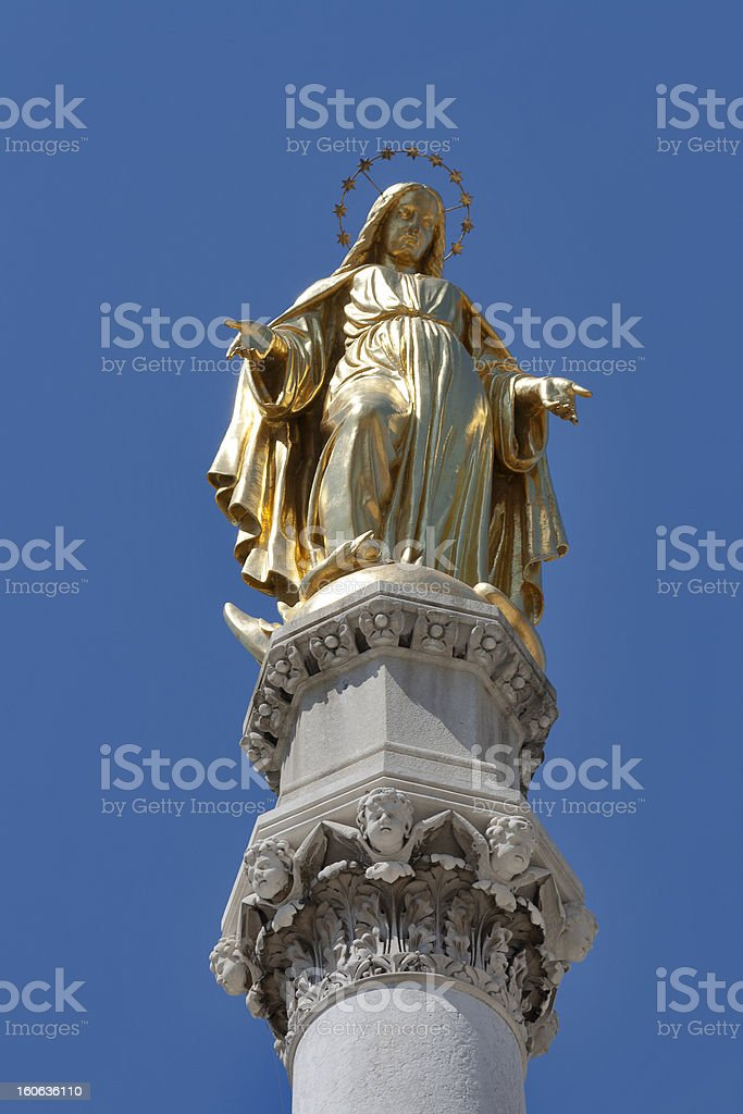 Zagreb statue royalty-free stock photo