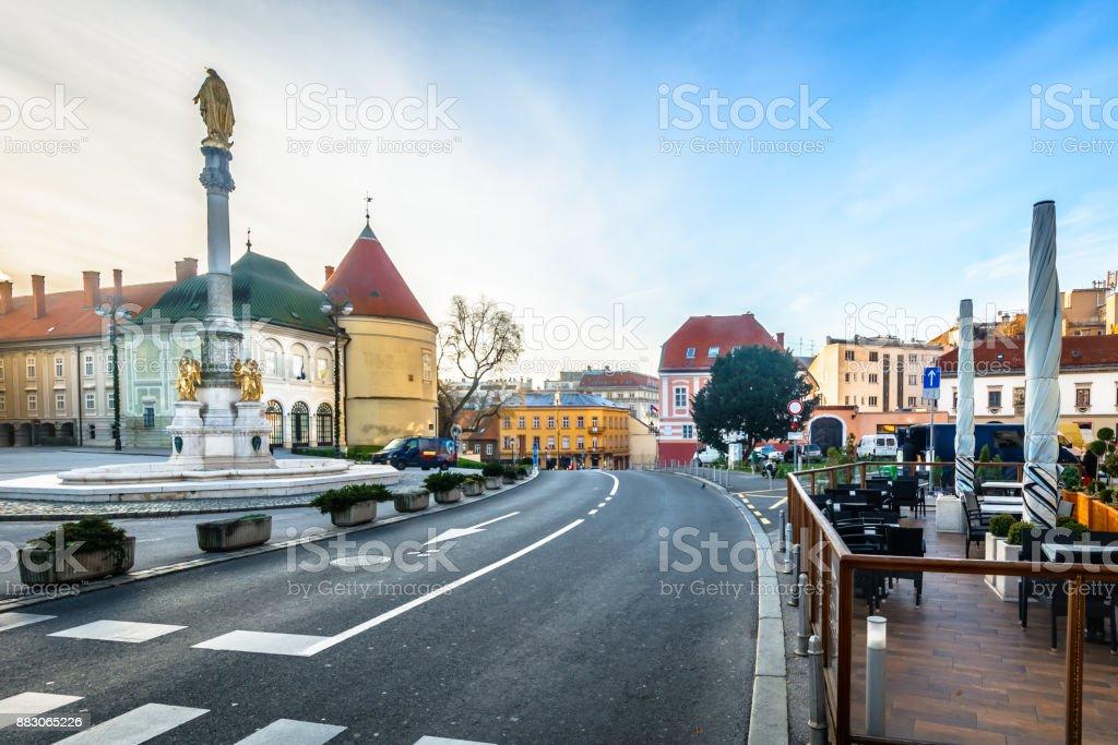 Zagreb town arhitecture scenery. stock photo