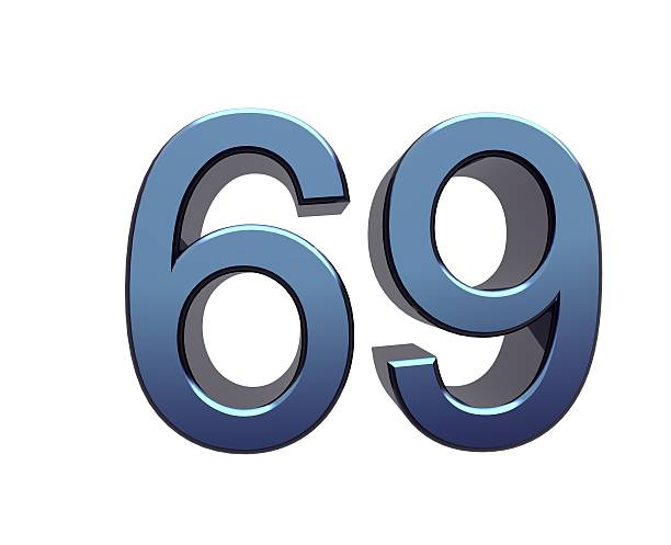 zahl 69 - number 69 stock photos and pictures