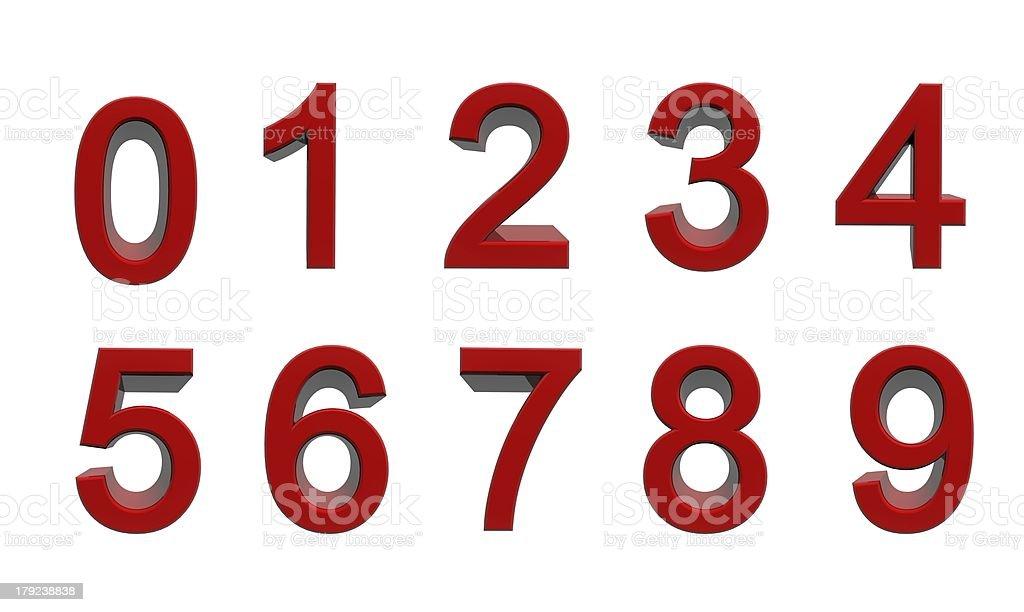 Zahlen null bis neun royalty-free stock photo