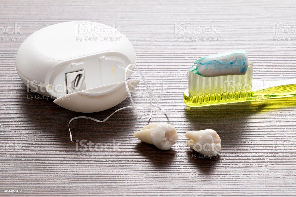 Zahnpflege, Zähne stock photo