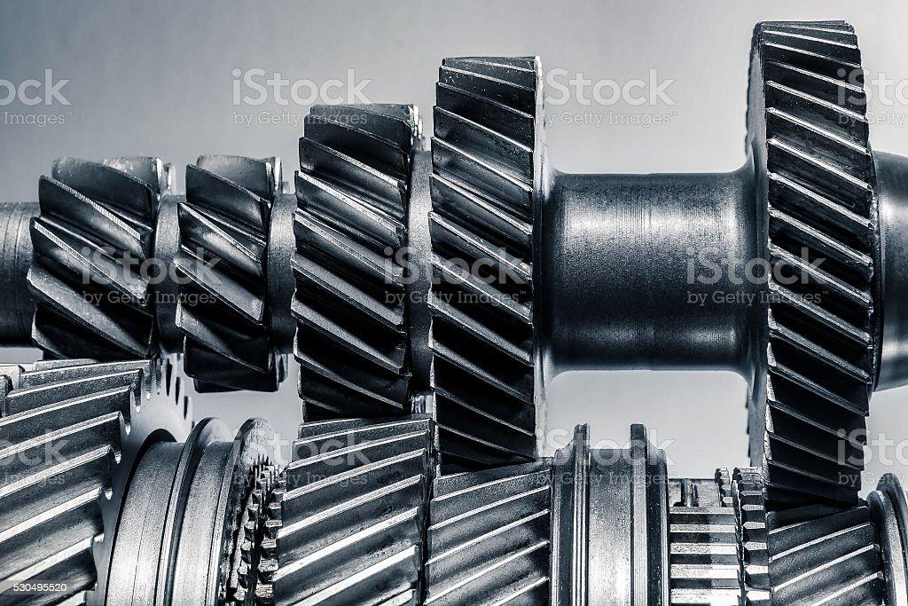 Getriebe Zahnräder in einem Lizenzfreies stock-foto