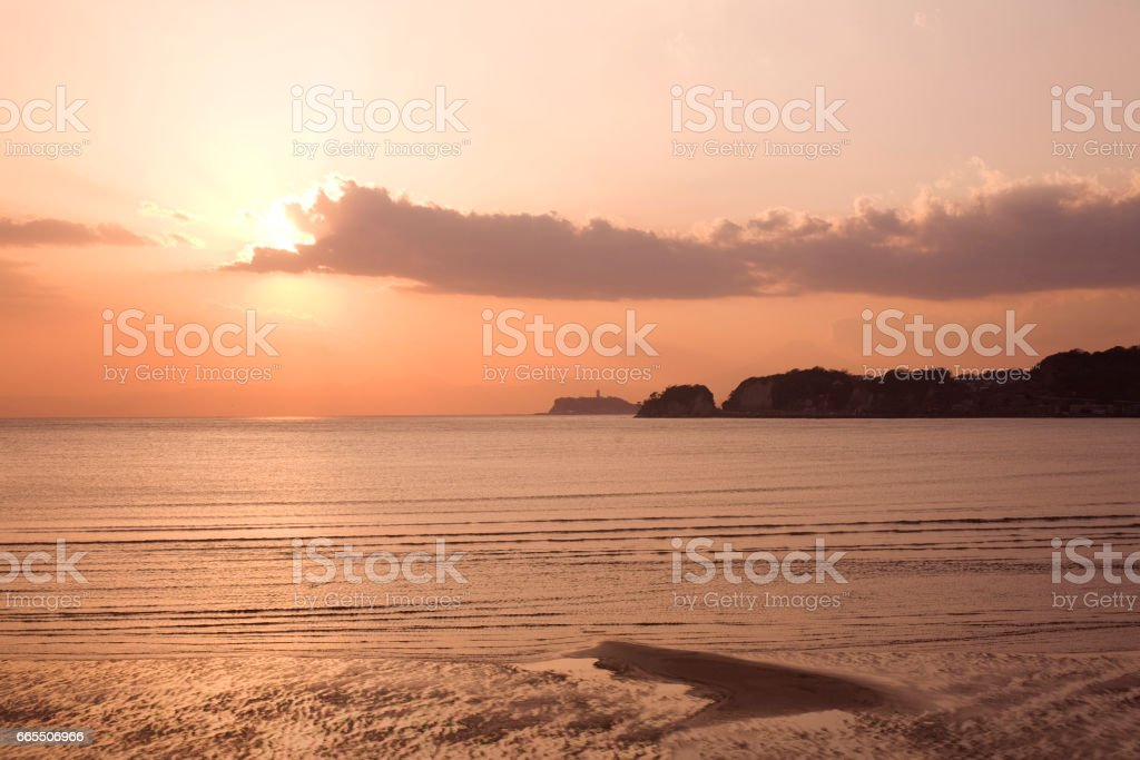 Zaimokuza Beach stock photo
