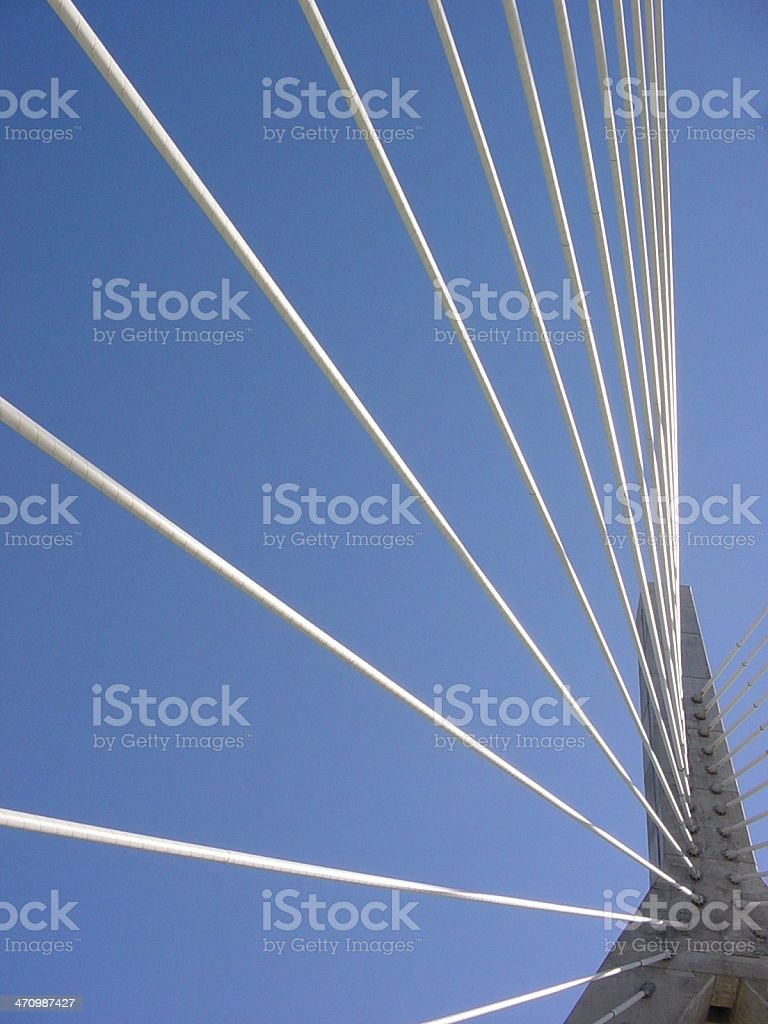 Zakim Bridge 3 royalty-free stock photo