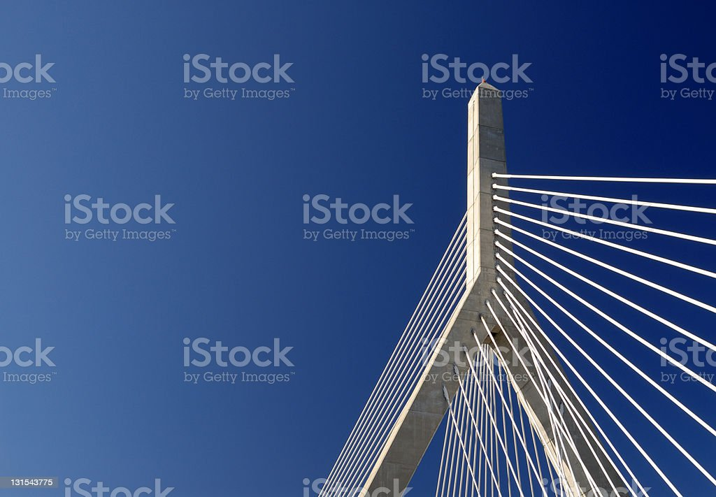Zakim Bunker Hill Bridge Detail stock photo