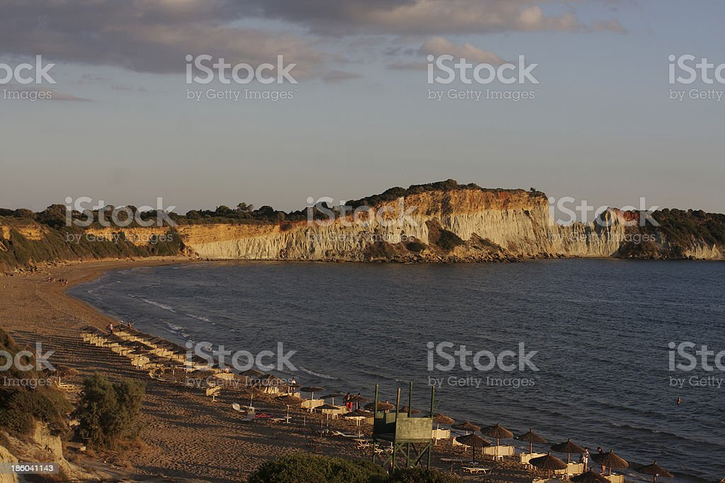 Zakinthos Beach Sunset royalty-free stock photo