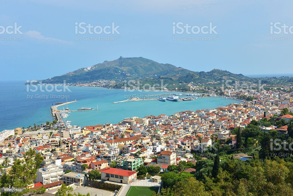 Zakynthos island at the ionian sea in Greece stock photo