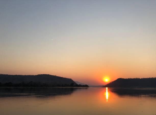 Zambezi River Sunrise stock photo
