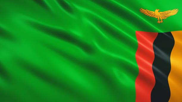 sambia flagge - sambia stock-fotos und bilder