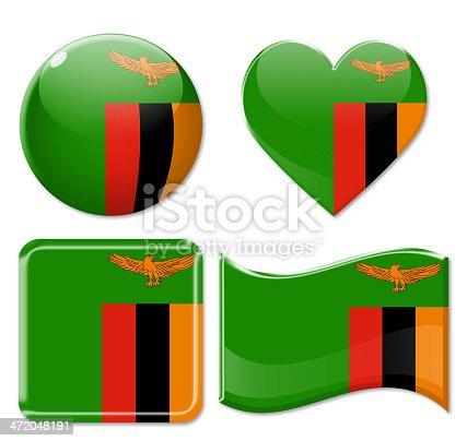 istock Zambia Flags & Icon Set 472048191