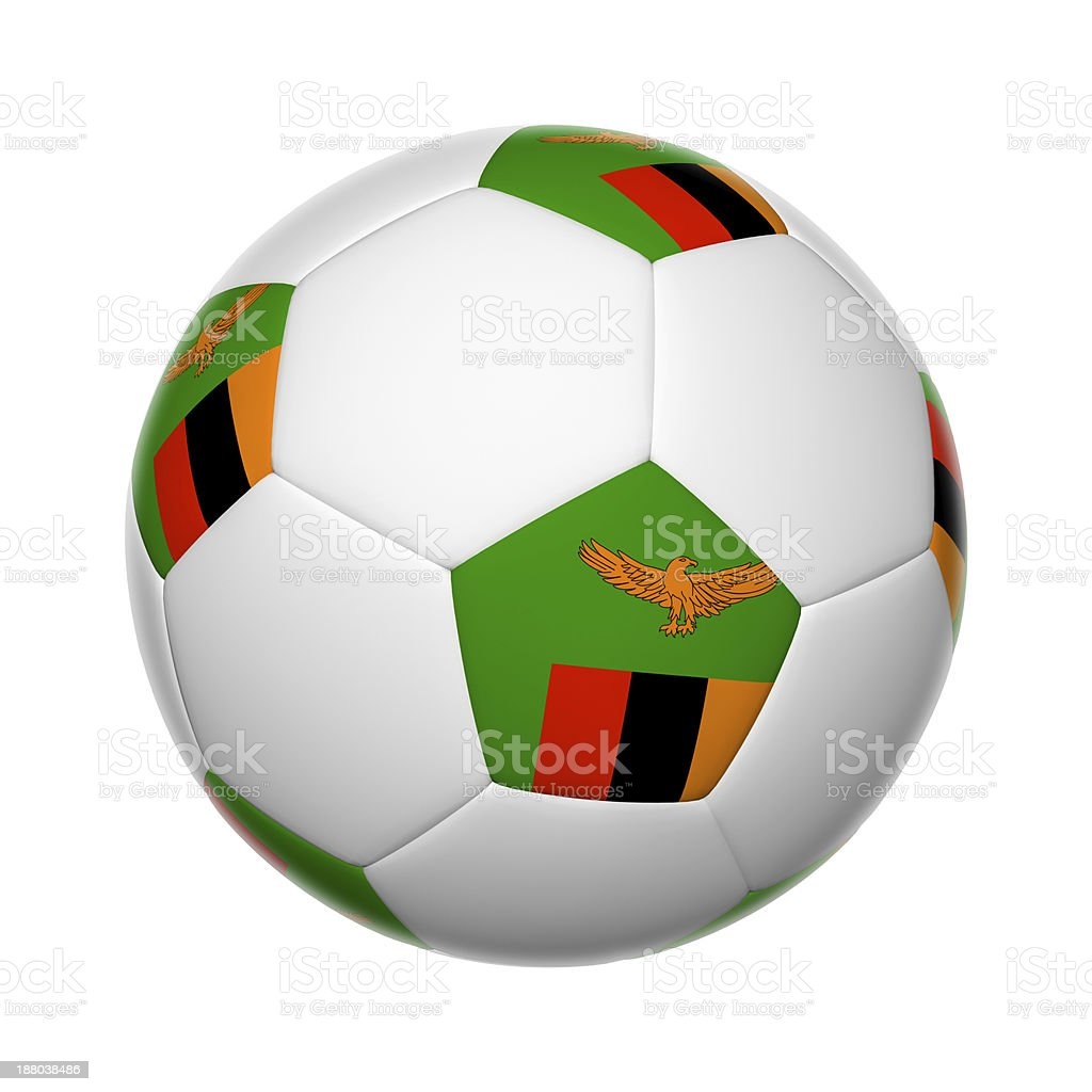 Zambia soccer ball stock photo
