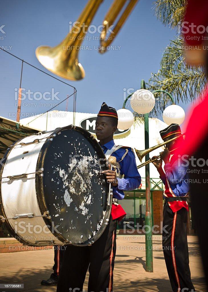 Zambian Brass Band stock photo
