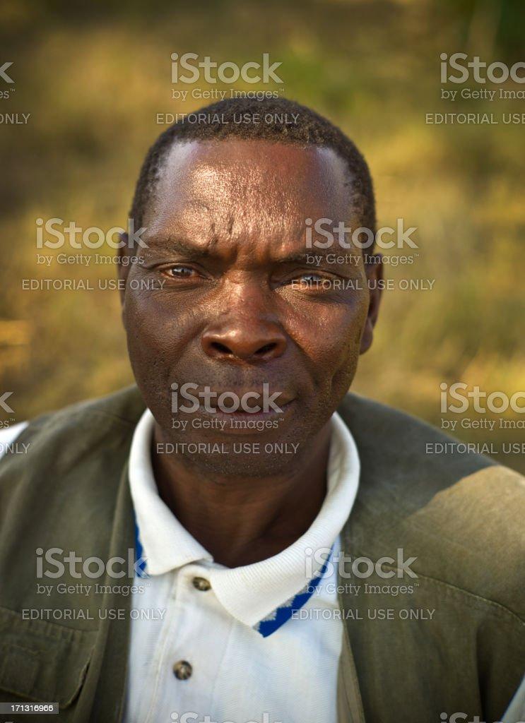 Zambian Farmer stock photo