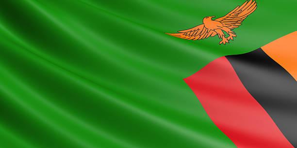 Zambian flag. – Foto