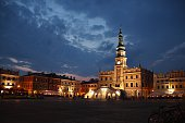 Zamosc old town at night