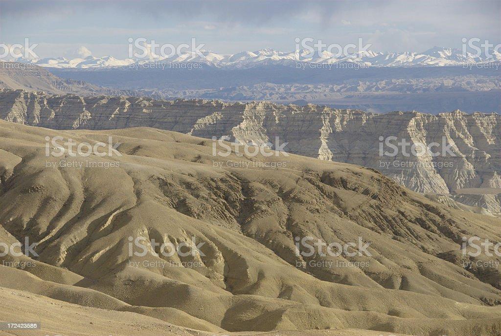 Zandar Clay Forest geological park (Tibet) stock photo