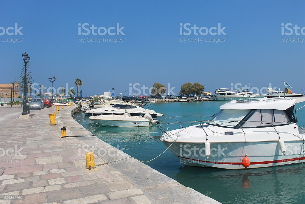 Zante Docks in Greece royalty-free stock photo