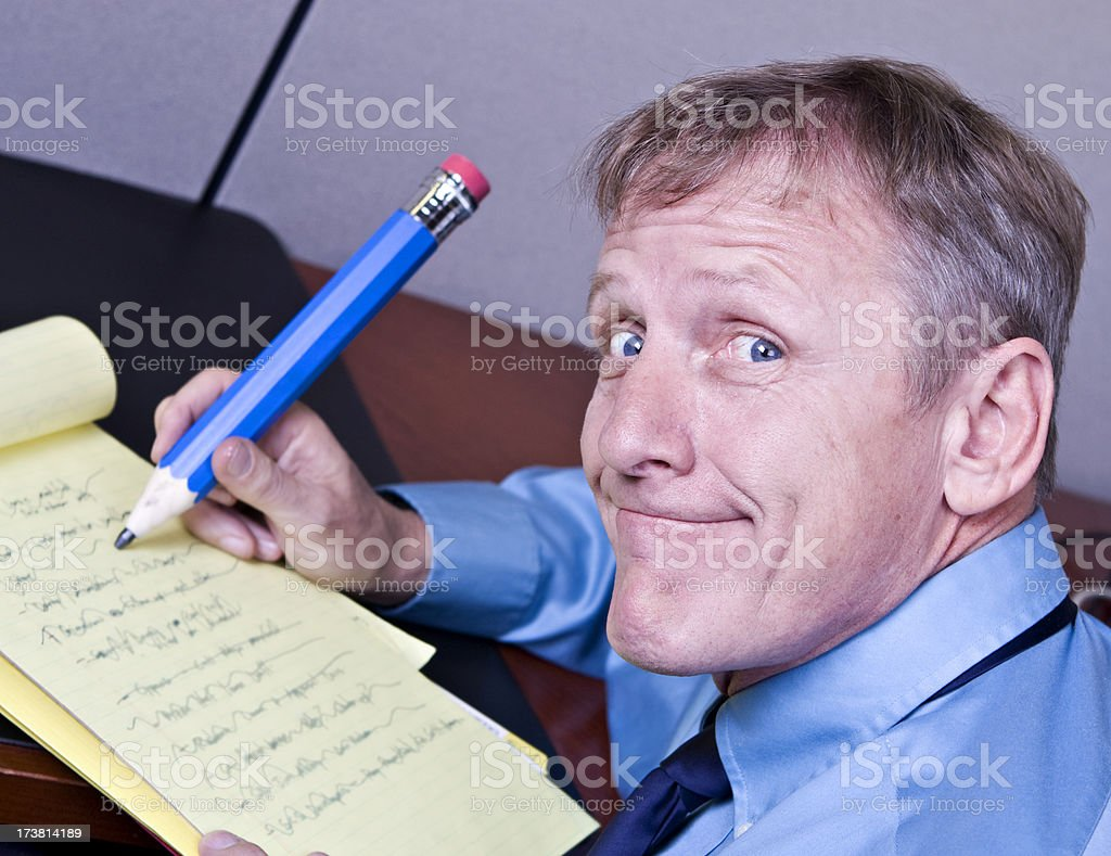 Zany Businessman royalty-free stock photo